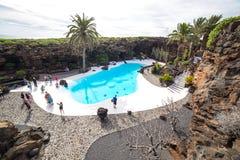 Jameos Del Agua w Lanzarote, wyspy kanaryjska, Hiszpania Fotografia Royalty Free