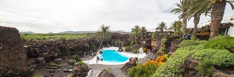 Jameos Del Agua w Lanzarote, wyspy kanaryjska, Hiszpania Zdjęcia Stock