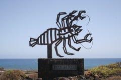 Jameos del Aqua的标志在兰萨罗特岛 免版税库存图片