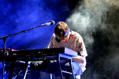 James Blake (electronic music producer and singer) performs at Primavera Sound 2015. BARCELONA - MAY 28: James Blake (electronic music producer and singer) royalty free stock images