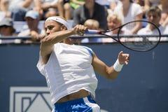 James Blake en el torneo abierto del tenis de Los Ángeles Foto de archivo