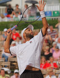 James Blake, Tennis  2012. 2012 World Team Cup. This photo shows US player James Blake during his singles match with Radek Stepanek. This tennis event which is Stock Photo