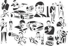 James Bond Royalty Free Stock Photos
