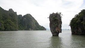 James Bond-Insel in der Phangnga-Bucht stock video footage