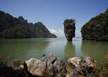 James Bond Island. In Thailand's Phang Nga National Park royalty free stock photos