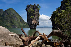 James Bond Island. Or Khao Tapu is a part of the Ao Phang Nga National Park, Phang Nga province in Thailand Stock Image