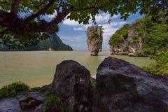 James Bond Island, bahía de Phang Nga, Tailandia Imágenes de archivo libres de regalías
