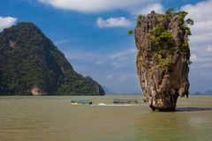 James Bond Island, bahía de Phang Nga, Tailandia fotos de archivo