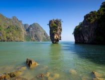 James Bond Island, de Baai van Phang Nga, Thailand Royalty-vrije Stock Afbeeldingen
