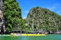 James Bond Island is de prachtige aard van Thailand stock afbeelding
