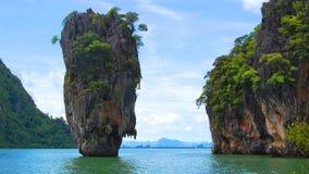 James Bond Island en la bahía de Phang Nga, Tailandia Foto de archivo libre de regalías