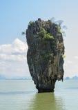 James Bond Island i den Phang Nga fjärden, Thailand Fotografering för Bildbyråer