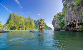 James Bond Island i Thailand Royaltyfri Foto