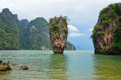 James Bond Island. If youre staying Phucket one must take a day trip and visit James Bond Island, its a must stock photos
