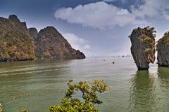 James Bond island, Thailand. James Bond island, Khao Phing Kan Pang Nga bay. Thailand Royalty Free Stock Photography
