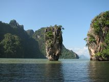 James Bond Island of knock-out-Tapu in het Andaman-Overzees, Thailand stock foto's
