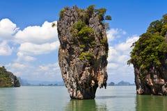 James Bond island Ko Tapu. Phang Nga Bay, James Bond Island, Krabi province in Thailand Stock Images
