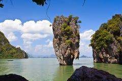 James Bond island Ko Tapu landscape. James Bond island Ko Tapu in Phang Nga bay, Thailand Stock Photo