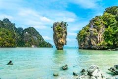 James Bond Island-Koh Tapoo da baía de Phang Nga, Tailândia Fotografia de Stock Royalty Free