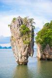 James bond island landmark of Phang-nga bay Royalty Free Stock Photos