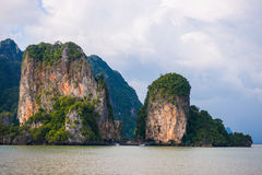 James bond island landmark of Phang-nga bay :: Thailand Royalty Free Stock Photos