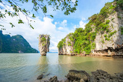 James bond island landmark of Phang-nga bay :: Thailand Royalty Free Stock Photo