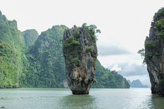 James Bond Island is a limestone located Stock Image