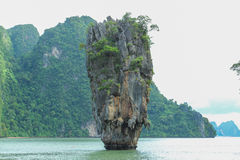 James Bond Island is a limestone located Royalty Free Stock Image