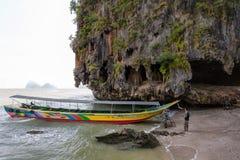 James Bond Island, lugar bonito Phuket, Tailândia imagens de stock