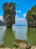 James Bond Island na baía de Phang Nga, Tailândia foto de stock royalty free