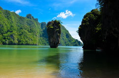 James Bond Island. And ocean Royalty Free Stock Images