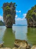 James Bond Island på den Phang Nga fjärden, Thailand royaltyfri foto