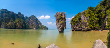 James Bond island panorama Royalty Free Stock Image