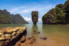 James Bond island in Phang Nga bay Stock Photography