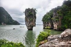 James Bond Island in Phang Nga Bay Royalty Free Stock Image