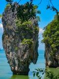 James Bond Island on Phang Nga bay, Thailand royalty free stock photos