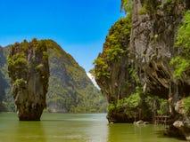 James Bond Island on Phang Nga bay, Thailand stock photography