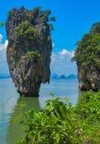 James Bond Island on Phang Nga bay, Thailand royalty free stock images