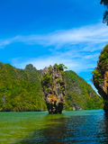 The James Bond island at Phang Nga National Park in Thailand Royalty Free Stock Images
