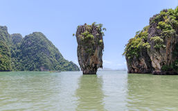 James Bond Island in Phang Nga National Park in Thailand Royalty Free Stock Images