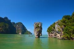 James Bond island. In Phang Nga, Thailand Royalty Free Stock Photos