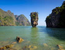 James Bond Island, Phangnga-Bucht, Thailand Lizenzfreie Stockbilder