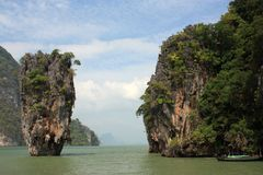 James Bond island. Phuket. Thailand Stock Photos