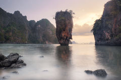James Bond Island & Sunset Royalty Free Stock Photography