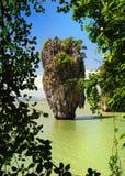 James bond island in thailand. Ko tapu, james bond island in thailand Stock Photos