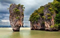James Bond Island in Thailand. Stone exotic James Bond Island in Thailand Stock Photography