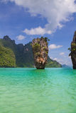 James Bond island in Thailand. James Bond island, near Phuket Island, Phang Nga, Thailand Royalty Free Stock Image
