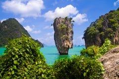 James Bond island in Thailand. James Bond island, near Phuket Island, Phang Nga, Thailand Royalty Free Stock Photography