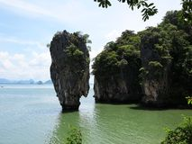 James Bond Island Thailand. This island was made famous after its starring role alongside 007 in 1974's The Man with the Golden Gun Royalty Free Stock Images