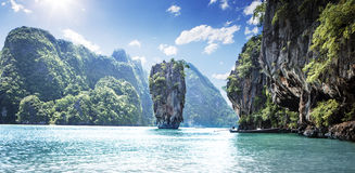 James Bond Island. In Thailand Royalty Free Stock Photo